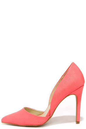 Mia Margo Coral Lizard D'Orsay Pumps at Lulus.com!