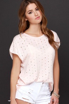 Slice of Heaven Blush Pink Tee at Lulus.com!