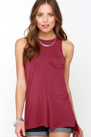 Tank on Me Wine Red Tank Top at Lulus.com!