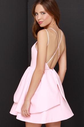 Keepsake Last Stand Backless Peach Dress at Lulus.com!