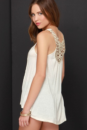 Black Swan Eco Light Beige Lace Top at Lulus.com!