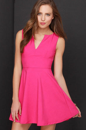 For All Time Fuchsia Dress at Lulus.com!
