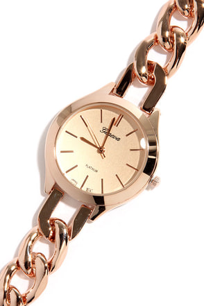 One Last Time Rose Gold Watch at Lulus.com!