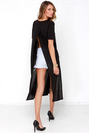 In Flow Motion Black Maxi Top at Lulus.com!