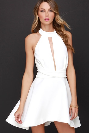 Cameo Breaking Hearts Ivory Halter Dress at Lulus.com!