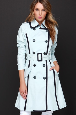 Mantova Light Blue Trench Coat at Lulus.com!