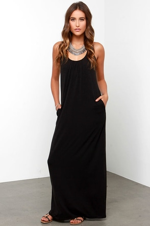 Shadow Puppet Black Maxi Dress at Lulus.com!