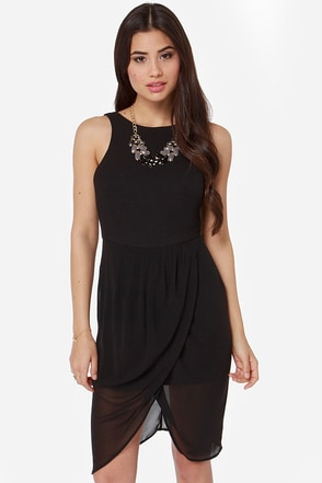 Finders Keepers Stranger In Paradise Black Dress
