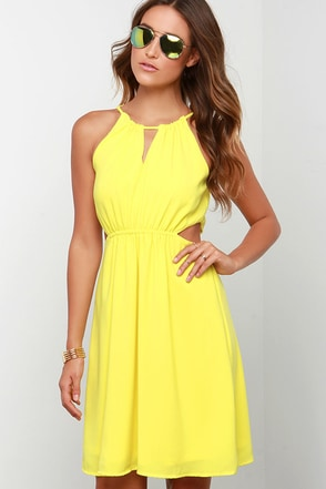 Happy Heart Yellow Dress at Lulus.com!