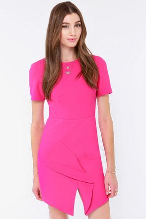 Keepsake Stubborn Love Fuchsia Dress