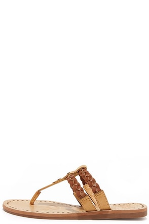 Braid My Day Tan Thong Sandals at Lulus.com!