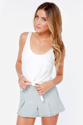Jack by BB Dakota Cirrus Chambray Shorts