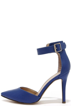 Point the Way Blue Ankle Strap Heels at Lulus.com!