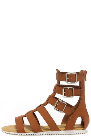 Gait Keeper Tan Gladiator Sandals at Lulus.com!