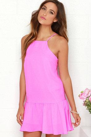 JOA Prancing Plumage Sleeveless Pink Dress at Lulus.com!