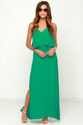 Piece of Havana Green Maxi Dress at Lulus.com!