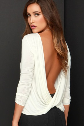 Walk Twist Way Black Long Sleeve Top at Lulus.com!