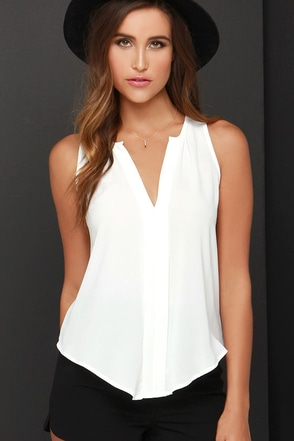 Top of the Hour Ivory Top at Lulus.com!