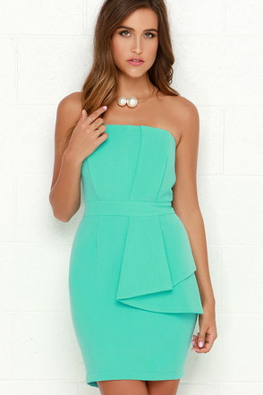 Pleased and Thank You Strapless Mint Green Dress at Lulus.com!