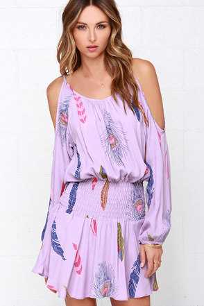 Lucy Love Free Spirit Lavender Print Dress at Lulus.com!
