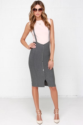 Two for the Show Blush and Grey Two-Piece Dress at Lulus.com!