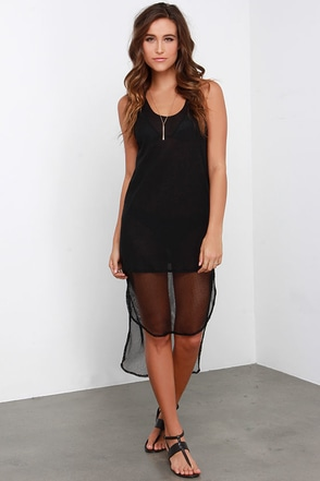 Active Duty Black High-Low Dress at Lulus.com!