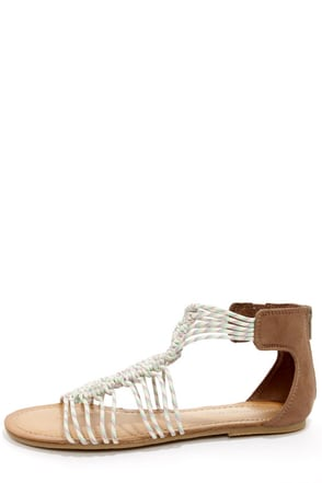 Madden Girl Knots Black Multi Strappy Sandals