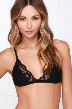 Mink Pink Alyssandra Black Lace Bra at Lulus.com!