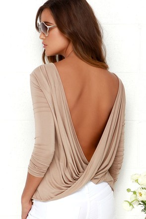 Walk Twist Way Peach Long Sleeve Top at Lulus.com!