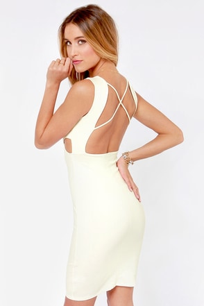 X-pect the Best Backless Peach Dress