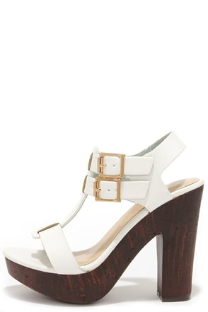 Wood You Be Mine Natural Platform Sandals at Lulus.com!