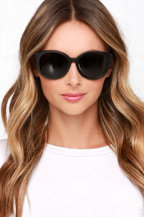 Woodzee Karlie Black Bamboo Sunglasses at Lulus.com!