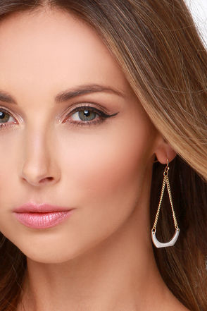 Set the Two Tone Gold and Silver Earrings at Lulus.com!