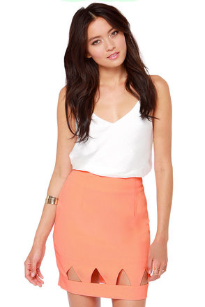 Point Blank Cutout Mint Green Skirt
