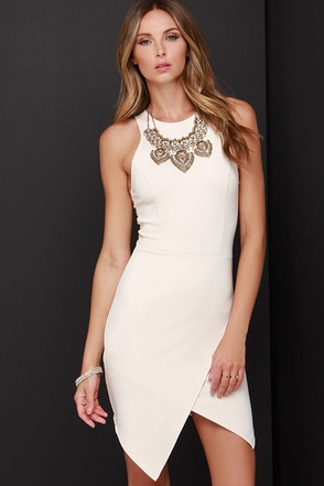Rocksteady and Ready Beige Bodycon Dress at Lulus.com!