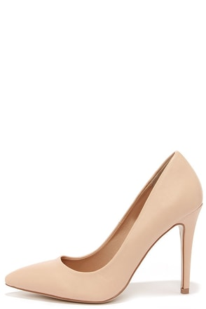 Sole Mate Nude Pointed Pumps at Lulus.com!