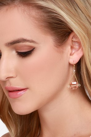 Lovely Lady Pink Earrings at Lulus.com!