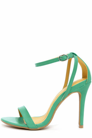 Shoe Republic LA Najana Black Ankle Strap Heels