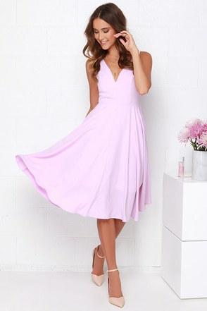 Of My Dreams Lavender Midi Dress at Lulus.com!