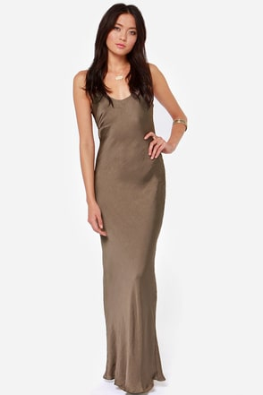 It Must Be Love Sable Brown Maxi Dress