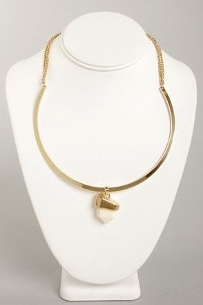 Rock My World Cream Necklace