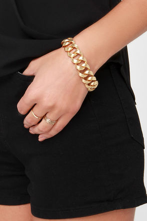Joint Effort Gold Chain Bracelet at Lulus.com!