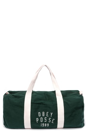 Obey Kenyon Forest Green Duffle Bag at Lulus.com!
