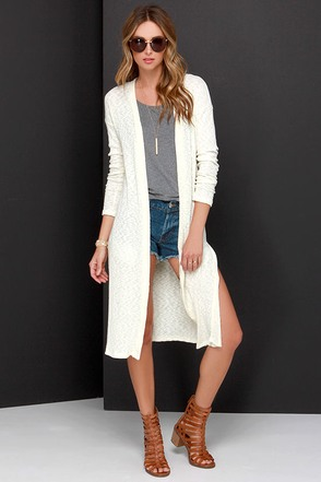 Milk and Honey Cream Cardigan Sweater at Lulus.com!