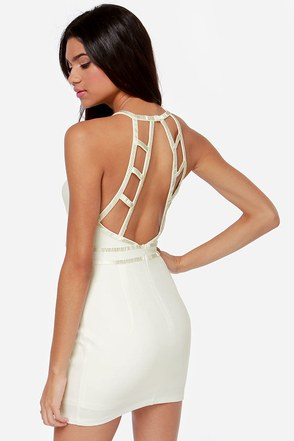Up to Bead Ivory Beaded Dress