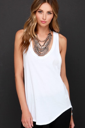 Hermosa Ivory Racerback Tank Top at Lulus.com!
