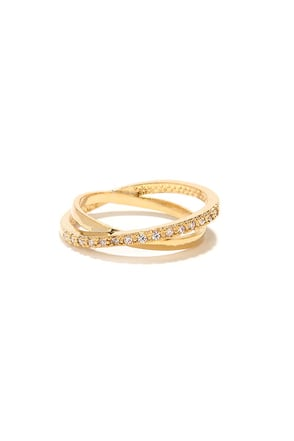 To Infinity Gold Rhinestone Ring at Lulus.com!