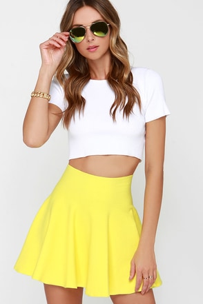 Ice Cream Sundays Lavender Knit Skater Skirt at Lulus.com!