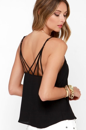 Fast Tempo Black Tank Top at Lulus.com!