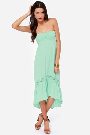 O'Neill Mia Strapless Mint Dress